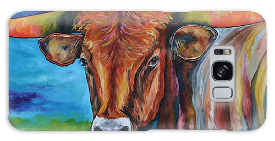 Longhorn Galaxy S8 Case featuring the painting Color Me Texas by Patti Schermerhorn