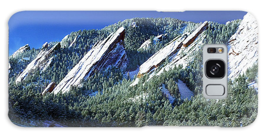 Colorado Galaxy Case featuring the photograph All Five Colorado Flatirons by Marilyn Hunt