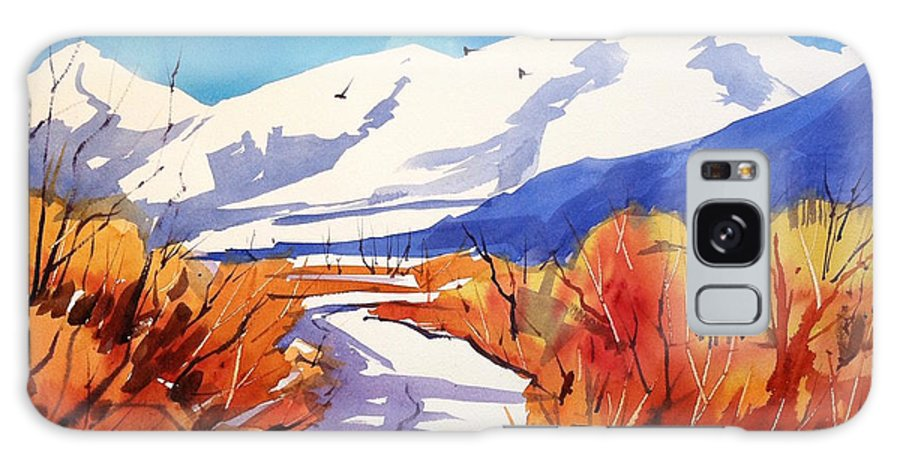 Colorado Winter Rocky Mountains Snow Galaxy S8 Case featuring the painting Colorado Winter 2 by Ugljesa Janjic