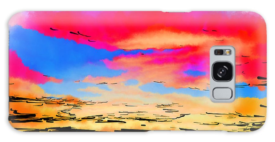 Abstract Art Galaxy S8 Case featuring the digital art Colorful Abstract Sunset by Kirt Tisdale
