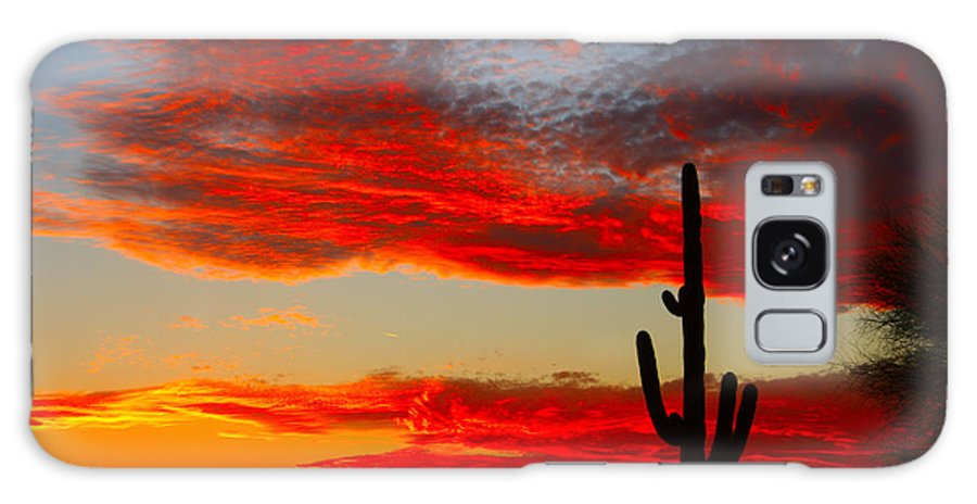 Sunsets Galaxy S8 Case featuring the photograph Colorful Arizona Sunset by James BO Insogna