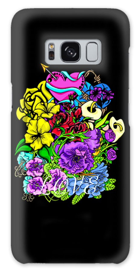Colorful Galaxy S8 Case featuring the photograph Colorful Art Love Bouquet by William Barron