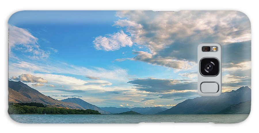 Colorful Galaxy S8 Case featuring the photograph Colorful Clouds At Golden Hour On Lake Wakatipu At Glenorchy, Nz by Daniela Constantinescu
