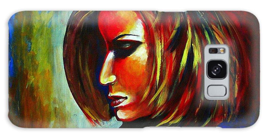 Galaxy S8 Case featuring the painting Colorful Galaxy by Mrutyunjaya Dash