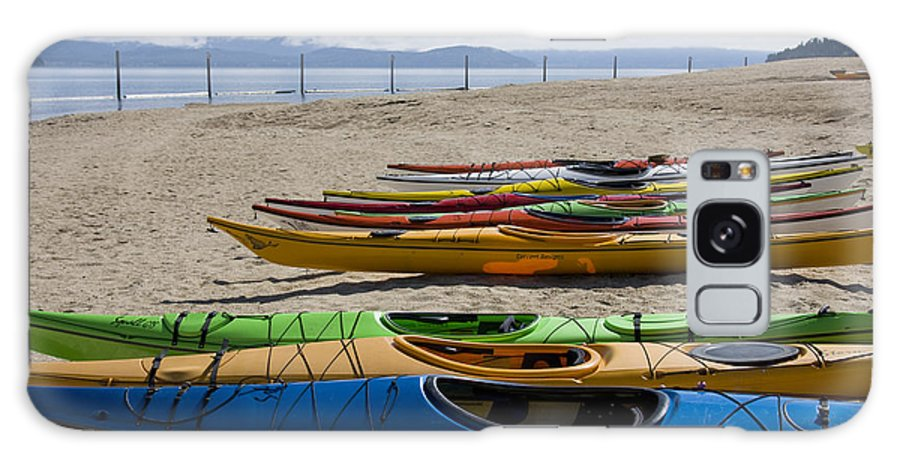 Kayaks Galaxy S8 Case featuring the photograph Colorful Kayaks by Idaho Scenic Images Linda Lantzy