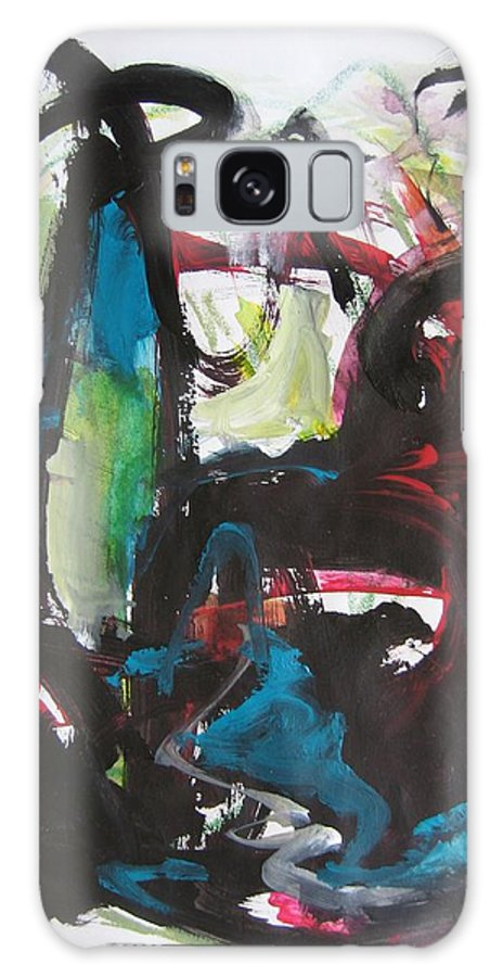 Abstract Paintings Galaxy S8 Case featuring the painting Colorful Landscape1112 by Seon-Jeong Kim