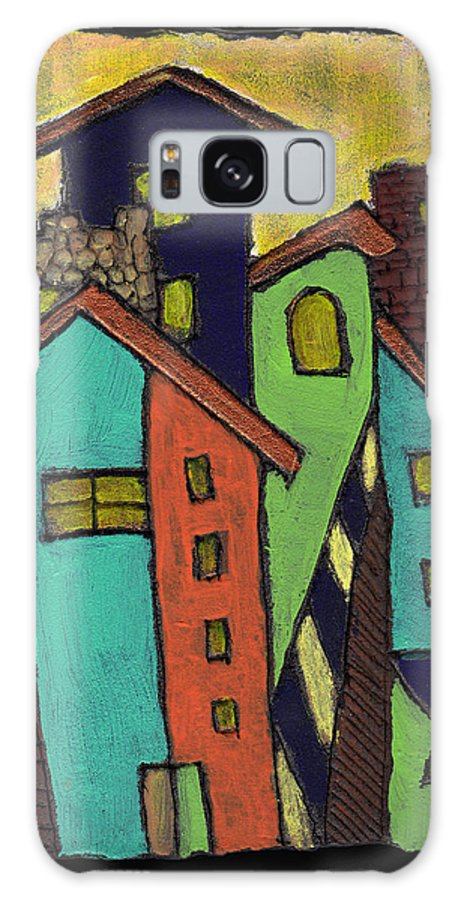 City Galaxy S8 Case featuring the painting Colorful Neighborhood by Wayne Potrafka