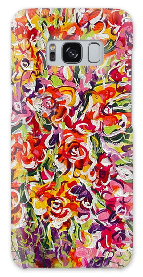 Framed Prints Galaxy Case featuring the painting Colorful Organza by Natalie Holland