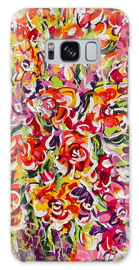 Framed Prints Galaxy S8 Case featuring the painting Colorful Organza by Natalie Holland