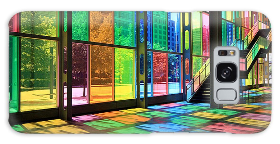 Montreal Galaxy S8 Case featuring the photograph Colorful Palais Des Congres Montreal Canada by Pierre Leclerc Photography