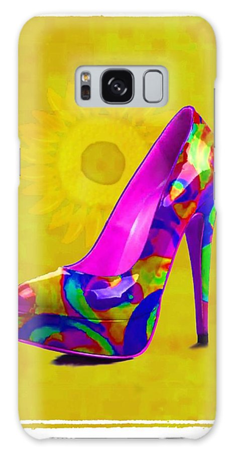 Footwear Galaxy S8 Case featuring the painting Colorful Pump by Jann Paxton