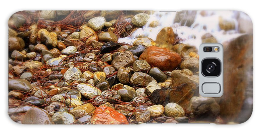 Nature Galaxy S8 Case featuring the photograph Colorful Rocks With Waterfall by Carol Groenen