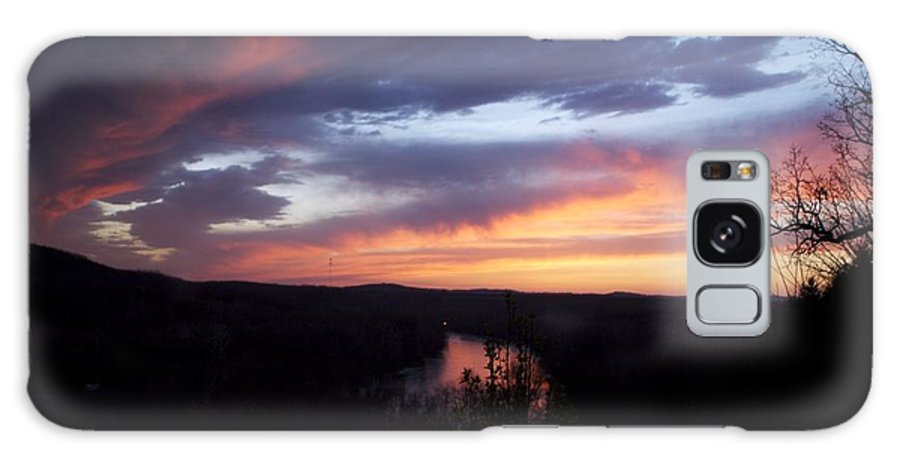 Blue Sunset Galaxy Case featuring the photograph Colorful Sunset by Toni Berry