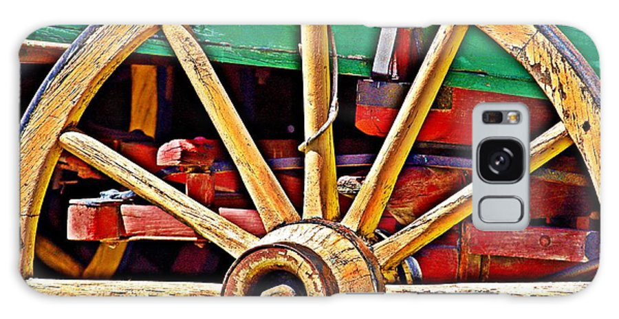 Wagon Wheel Galaxy S8 Case featuring the photograph Colorful Wagon Wheel- Fine Art by KayeCee Spain