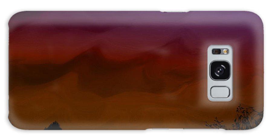 Digital Galaxy S8 Case featuring the digital art Colors At Dusk by Serena Ballard