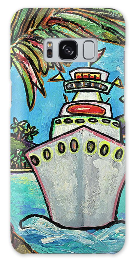 Cruise Ship Galaxy S8 Case featuring the painting Colors Of Cruising by Patti Schermerhorn