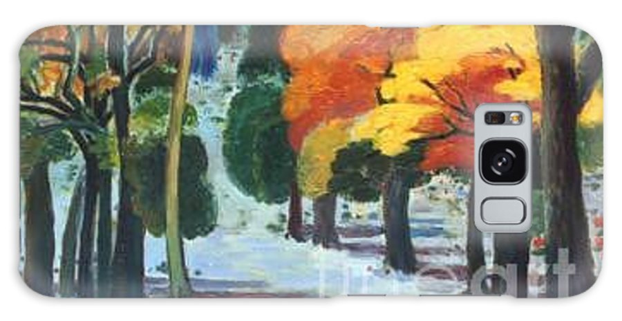 Colors Galaxy S8 Case featuring the painting Colors Of Fall by Meihua Lu