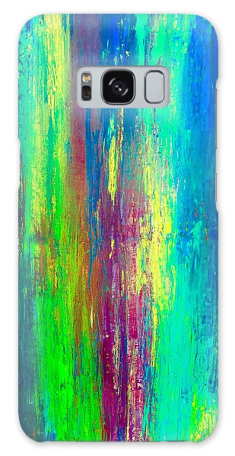 Abstract Galaxy S8 Case featuring the painting Colors Of My Mind by Kathy Linden