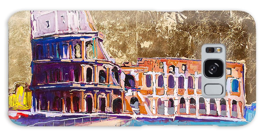 Rome Galaxy Case featuring the painting Colosseum by Kurt Hausmann