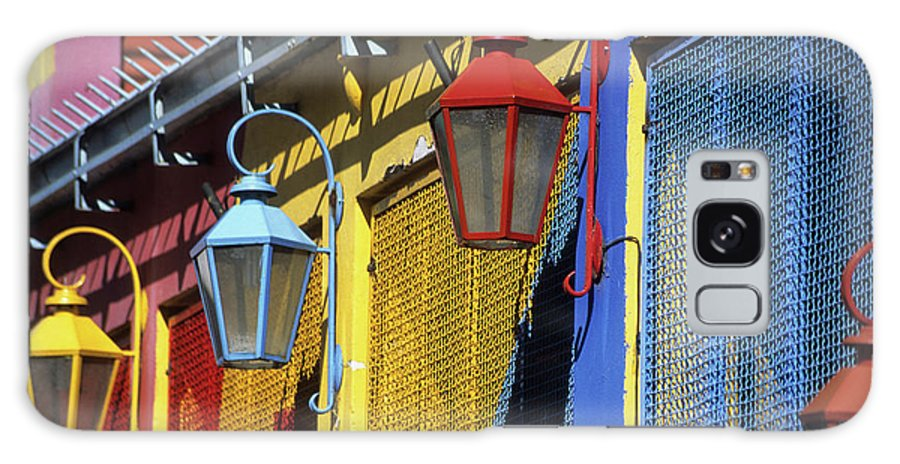 Buenos Aires Galaxy S8 Case featuring the photograph Colourful Lamps La Boca Buenos Aires by James Brunker