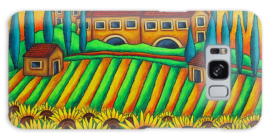 Tuscany Galaxy S8 Case featuring the painting Colours Of Tuscany by Lisa Lorenz