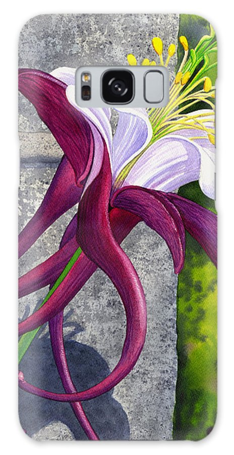 Columbine Galaxy S8 Case featuring the painting Columbine by Catherine G McElroy