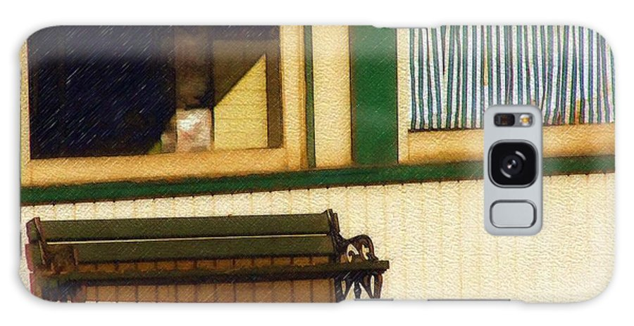 Bench Galaxy S8 Case featuring the photograph Come Sit A Spell by Sandy MacGowan