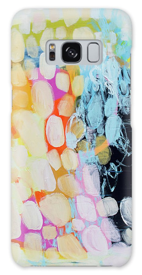 Abstract Galaxy Case featuring the painting Come To Bed by Claire Desjardins