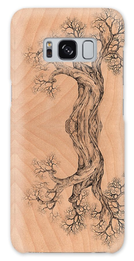 Wood Galaxy S8 Case featuring the digital art Come Together Tree 38 Hybrid 1 by Brian Kirchner