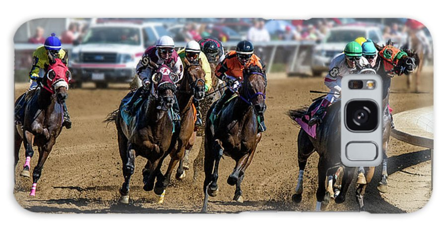 Belterra Horse Park Racing Galaxy S8 Case featuring the photograph Coming Around The Turn by Ed Taylor