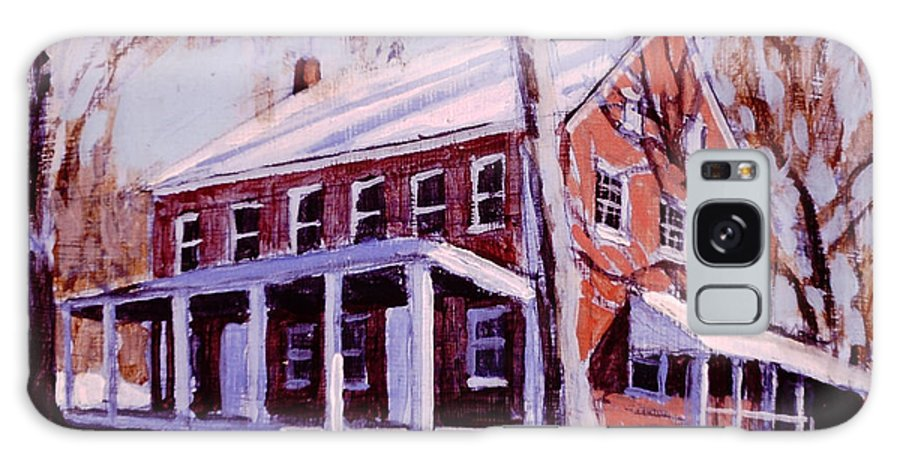 Quaker Meeting House Galaxy S8 Case featuring the painting Coming To The Meeting by David Zimmerman