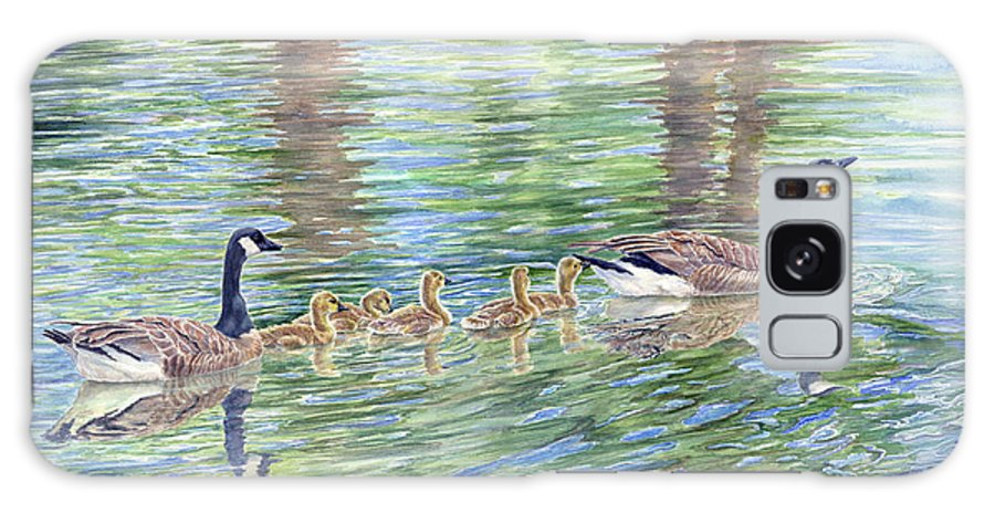 Canadian Geese Galaxy S8 Case featuring the painting Commitment by Malanda Warner
