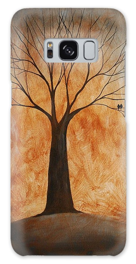 Tree Galaxy S8 Case featuring the painting Companionship by Emily Page