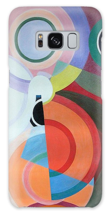 Abstract Galaxy S8 Case featuring the painting Complement by Muriel Dolemieux