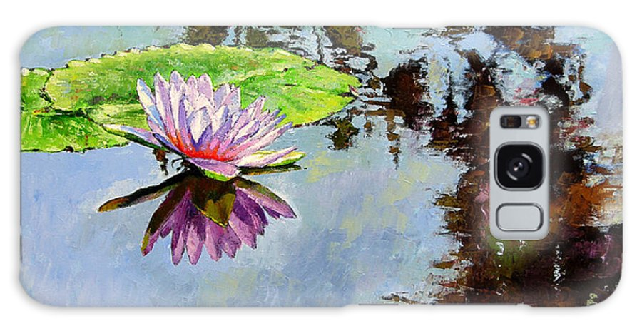 Water Lily Galaxy Case featuring the painting Composition Of Beauty by John Lautermilch