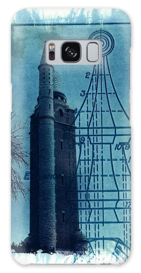 Alternative Process Photography Galaxy Case featuring the photograph Compton Blueprint by Jane Linders