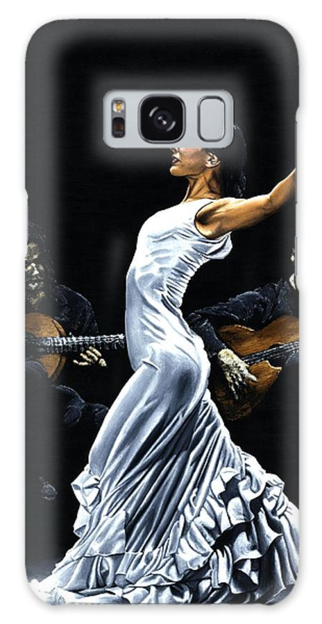 Flamenco Galaxy Case featuring the painting Concentracion Del Funcionamiento Del Flamenco by Richard Young