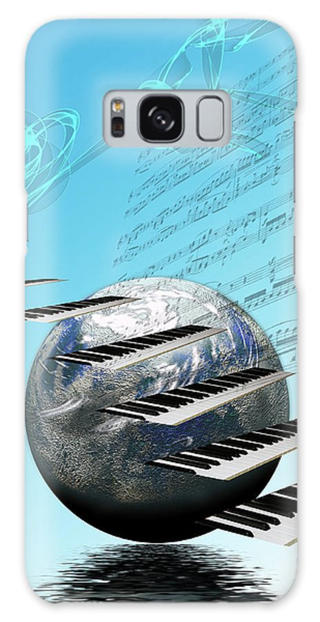 Music Galaxy S8 Case featuring the digital art Conceptual Music World by Angel Jesus De la Fuente