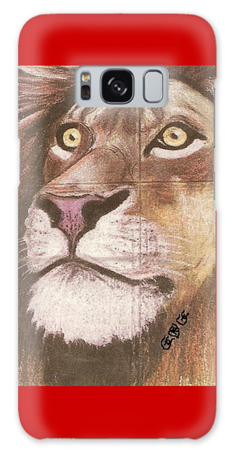 Lions Galaxy S8 Case featuring the painting Concrete Lion by George I Perez