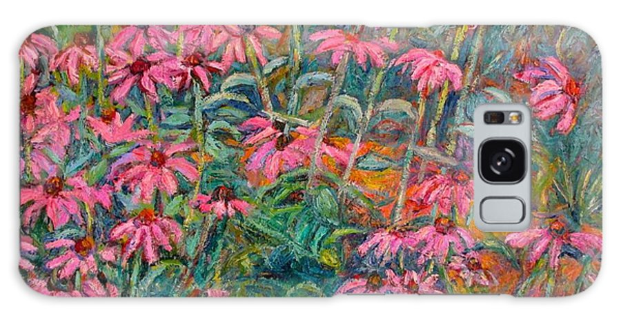 Kendall Kessler Galaxy Case featuring the painting Coneflowers by Kendall Kessler