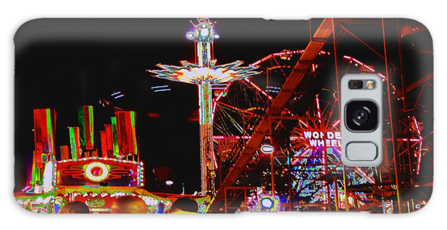 Coney Island Galaxy S8 Case featuring the photograph Coney Island Opening Day In Brooklyn New York by Kendall Eutemey