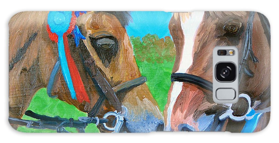 Horses Galaxy Case featuring the painting Congratulations by Michael Lee