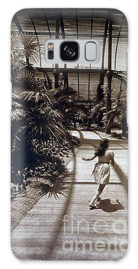 Sepia Galaxy S8 Case featuring the photograph Conservatory, Barcelona 1976 by Michael Ziegler