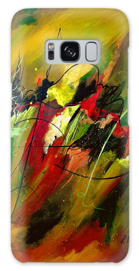 Abstract Galaxy S8 Case featuring the painting Contemplating Perseverance by Ruth Palmer