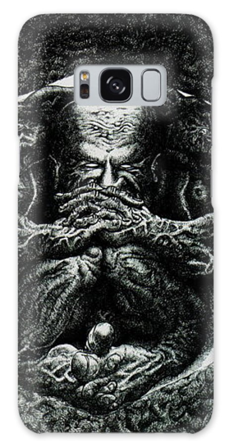 Dark Galaxy Case featuring the drawing Contemplation by Tobey Anderson