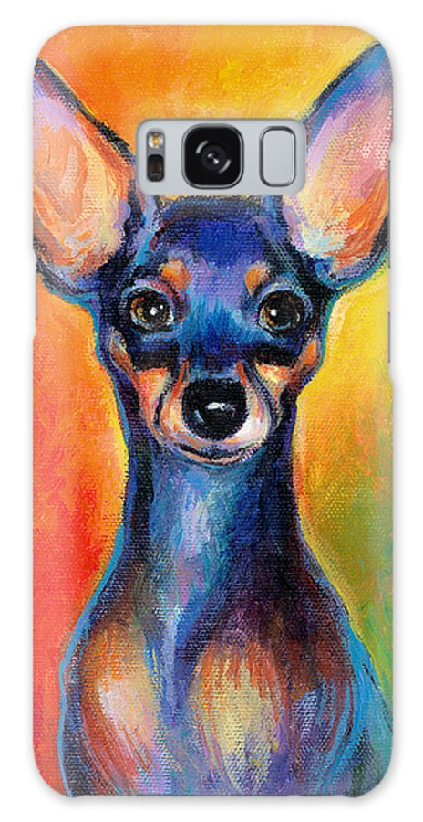 Chihuahua Painting Galaxy S8 Case featuring the painting Contemporary Colorful Chihuahua Chiuaua Painting by Svetlana Novikova