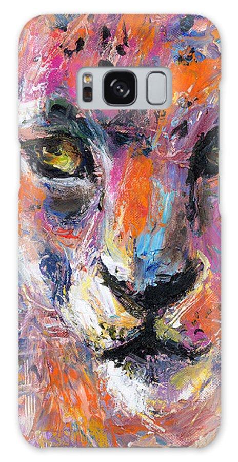 Wildlife Painting Galaxy S8 Case featuring the painting contemporary Wildlife painting cheetah leopard by Svetlana Novikova