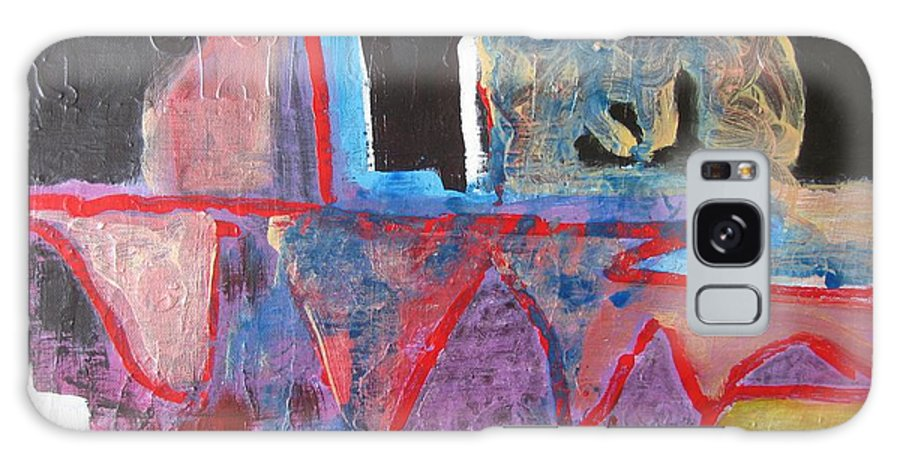 Abstract Paintings Galaxy Case featuring the painting Contradiction Of Time by Seon-Jeong Kim