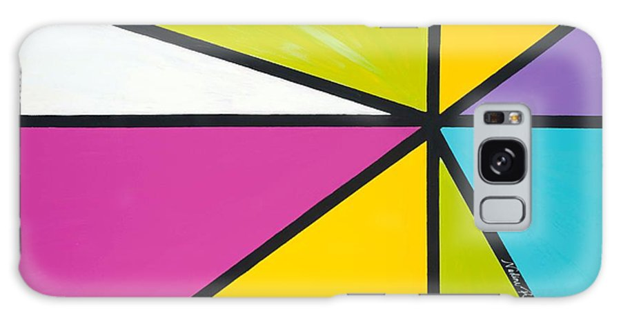 Lines Galaxy Case featuring the painting Convergence by Nadine Rippelmeyer