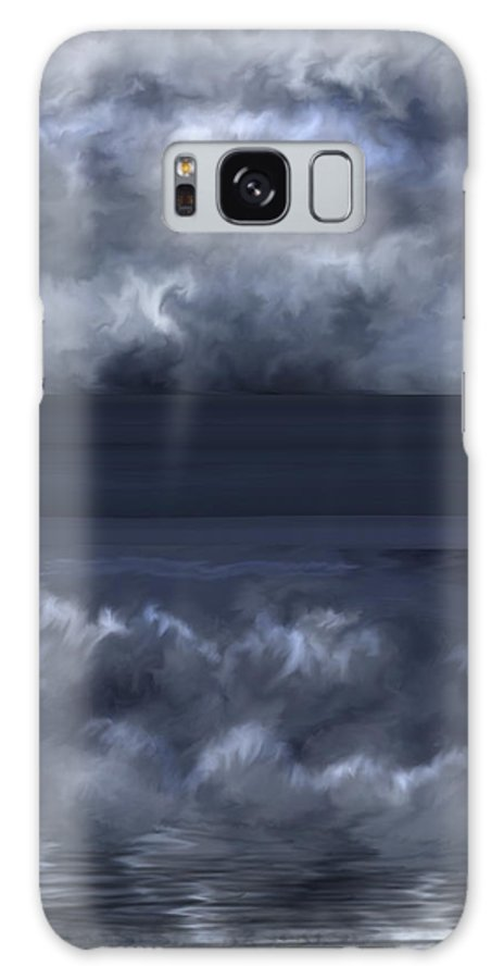 Seascape Galaxy Case featuring the painting Convergence Zone by Anne Norskog